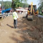 06.11.2020-Excavation for WMM for partial reconstruction from km 97+075 to km 97+110 done.LHS.