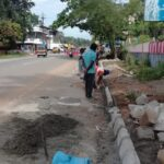 16.11.20-Footpath work from Km 107300 to Km 107330 done. RHS