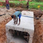 17.11.20-Errection of precast box culvert work at Km 95860 done. RHS