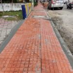 18.11.20-Laying of tiles for footpath work from Km 102017 to Km 102048 done. LHS