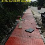 18.11.20-Lying of tiles for footpath work from Km 108819 to Km 108839 done. RHS