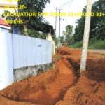 19.11.20-EXCAVATION FOR DRAIN 31+650 TO 31+700 LHS