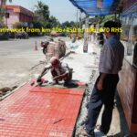 24.11.20-Fixing of tiles for footpath work from km 106+450 to 106+470 RHS
