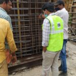23.12.20-Reinforcement checking for Precast Box Culvert at KM 45+770 LHS casting yard