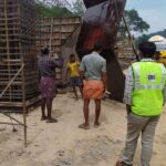 23.12.20-Reinforcement checking for Precast Box Culvert at KM 45+770 LHS casting yard...