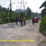 20.01.21-Patch work of road in progress at KM.23+000..