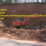 15.02.21-Earthwork and Rock cutting in progress at Km.2+600 and 2+450.