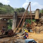 21.02.21-Pile concreting (P6) is in progress at A2 abutment for Minor Bridge 69+232