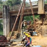 21.02.21-Pile concreting (P6) is in progress at A2 abutment for Minor Bridge 69+232..