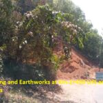 28.02.21-8A Rock cutting and Earthworks at Km.2+450 LHS and 2+600 RHS in progress.