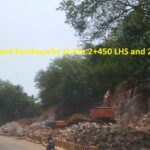 28.02.21-8A Rock cutting and Earthworks at Km.2+450 LHS and 2+600 RHS in progress..