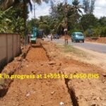 16.03.21-Drainage work in progress at 1+595 to 1+650 RHS