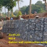 23.03.21-Gabion wall construction work in progress