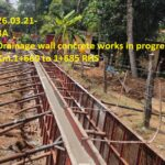 26.03.21-Drainage wall concrete works in progress Km.1+660 to 1+685 RHS