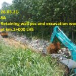 26.03.21-Retaining wall pcc and excavation work in progress at km.2+000 LHS