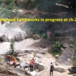26.03.21-Rock cutting and Earthworks in progress at ch.2+500