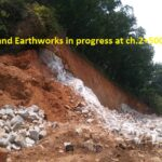 26.03.21-Rock cutting and Earthworks in progress at ch.2+500.