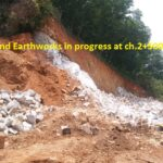 26.03.21-Rock cutting and Earthworks in progress at ch.2+500..
