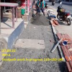 27.03.21- Footpath work in progress 115+150 LHS