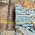 31.03.21-Retaining wall work in progress at km.2+000 LHS