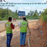 Package 8B-WMM top level checking at Ch.54+800 to 56+120LHS-31-03-2021