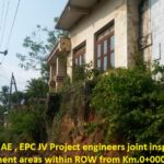 07.04.21-KSTP EE,AEE, AE , EPC JV Project engineers joint inspections done of encroachment areas within ROW from Km.0+000 to 29+840