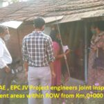 07.04.21-KSTP EE,AEE, AE , EPC JV Project engineers joint inspections done of encroachment areas within ROW from Km.0+000 to 29+840.