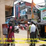 07.04.21-KSTP EE,AEE, AE , EPC JV Project engineers joint inspections done of encroachment areas within ROW from Km.0+000 to 29+840..