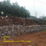 07.04.21-Retaining wall at Km.1+890 to 2+010.
