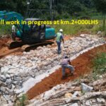 07.04.21-Retaining wall work in progress at km.2+000LHS