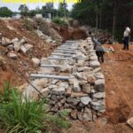 07.04.21-Retaining wall works at 1+890