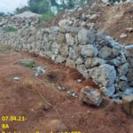 07.04.21-Retaining wall works at 1+890.