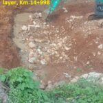 15.04.21-Culvert bed preparation in progress using boulders upto 600mm thick layer, Km.14+998