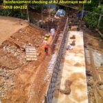 15.04.21-Reinforcement checking at A2 Abutment wall of MNB 69+232