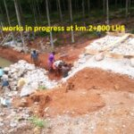 15.04.21-Retaining wall works in progress at km.2+000 LHS
