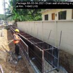 Package 8A-03-04-2021-Drain wall shuttering in progress at Km. 1+640 LHS