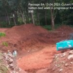 Package 8A-13-04-2021-Culvert PCC bottom bed work in progress at Km.14+998