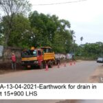 Package 8A-13-04-2021-Earthwork for drain in progress at 15+900 LHS