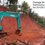 Package 8A-13-04-2021-Earthworks in progress at km.20+250 RHS