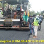 10.06.21-DBM Laying in progress at KM.30+470 to 31+390LHS.
