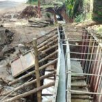 Package 8A-Drain wall concrete work at Km.6+495 to 6+500. RHS-02-06-2021