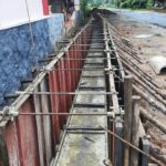 Package 8A-Drain wall work in progress at Km 6+500 to 6+530 LHS-28-05-2021