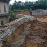 Package 8A-Retaining wall work in progress Km.3+086-3+100 LHS-25-05-2021